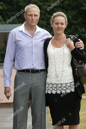 Editorial picture of Sgt Danny Nightingale Arrives At The Bulford Court Martial In Wiltshire With His Wife Sally. The Former Sas Sniper Has Been Given A Two-year Suspended Sentence For Illegally Possessing A Glock 9mm Pistol And 300 Rounds Of Ammunition. Picture: Murray