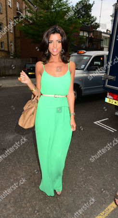 Lucy Mecklenburgh. Guests From The World Of Itv Arrive At 6 Chepstow Villas London W11. Itv S. Ummer Reception Held By Peter Fincham Director Of Television. 17 July 2013.