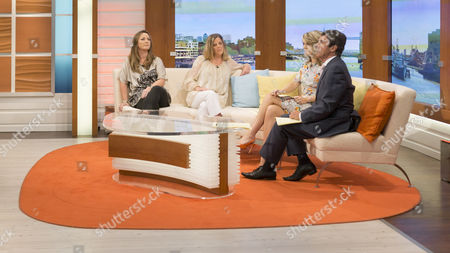 Claire Irvin and Shona Sibray with Charlotte Hawkins and John Stapleton