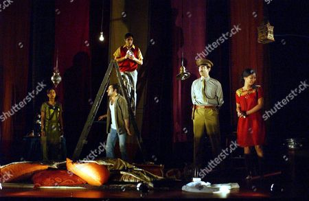 Editorial image of DRESS REHEARSAL OF THE PLAY 'MIDNIGHT'S CHILDREN' AT THE BARBICAN THEATRE, LONDON, BRITAIN - 18 JAN 2003