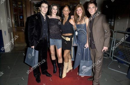 AMY NUTTALL, VERITY RUSHWORTH AND DANIELLE HENRY WITH JAMIE AND MATT OF ONE TRUE VOICE