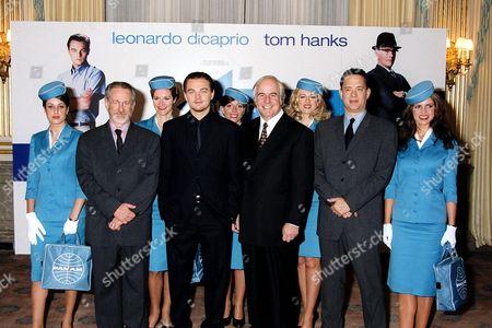 STEVEN SPIELBERG, LEONARDO DICAPRIO, FRANK ABAGNALE AND TOM HANKS