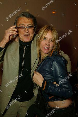 Robert Evans and Rosanna Arquette