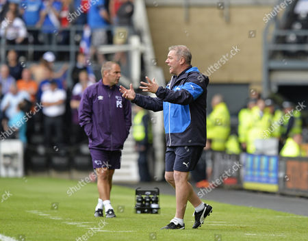 Ally McCoist manager of Rangers shows his frustration
