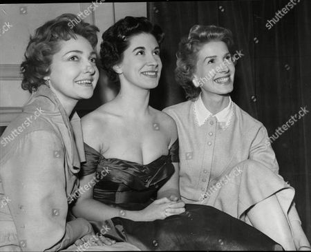 Editorial picture of Actresses June Powell Teresa Waters And Joan Anderson.