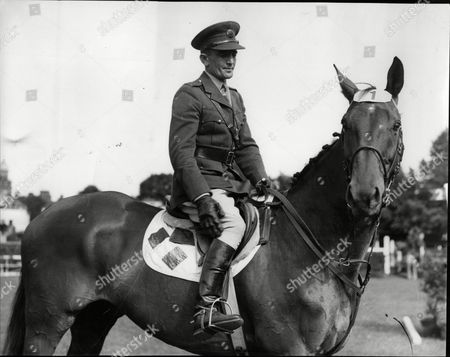 Captain Kevin Barry Of The Irish Army- Winner Of The International At The Dublin Horse Show.