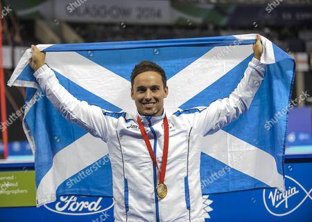 Stock Image of Dan Keatings wins gold in the Gymnastics Men's Pommel Horse