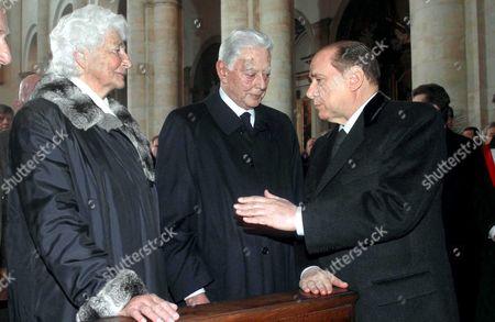 SUSANNA AGNELLI, UMBERTO AGNELLI AND SILVIO BERLUSCONI