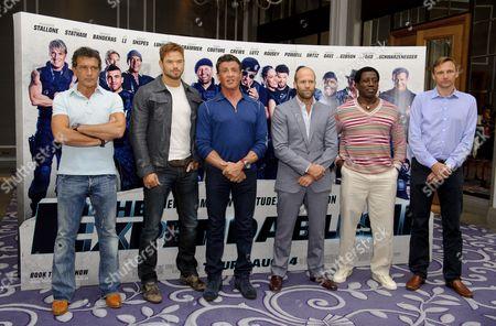 Antonio Banderas, Kellan Lutz, Sylvester Stallone, Jason Statham, Wesley Snipes and Zygi Kamasa