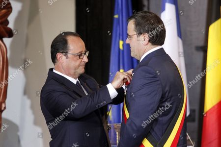 Francois Hollande and Willy Demeyer