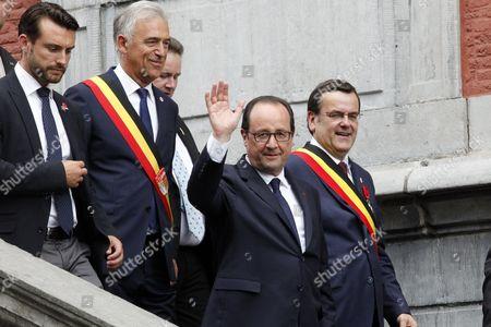 Francois Hollande, Willy Demeyer, Michel Foret