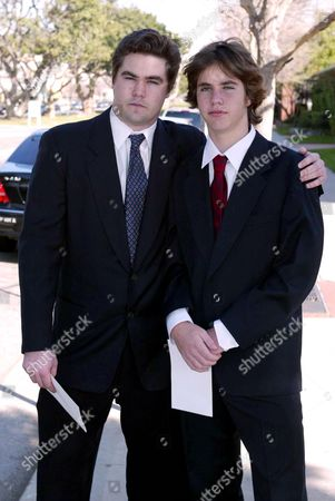 GRANDSONS PETER SHAW, 20 (LEFT) AND IAN SHAW, 13