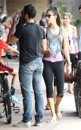 Editorial image of Alessandra Ambrosio, and Jaime Mazur leaving SoulCycle in Brentwood, Los Angeles, America - 03 Aug 2014
