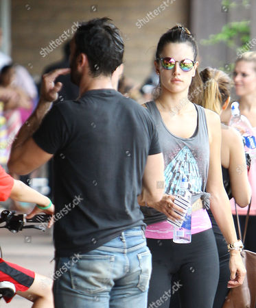 Stock Picture of Jamie Mazur and Alessandra Ambrosio