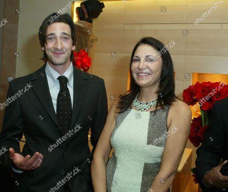 Adrien Brody and Beatrice Bulgari