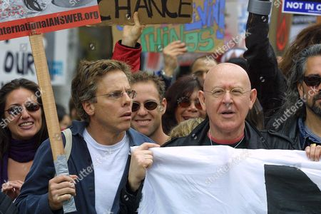 Editorial picture of DEMONSTRATION AGAINST WAR WITH IRAQ, LOS ANGELES, AMERICA - 15 FEB 2003
