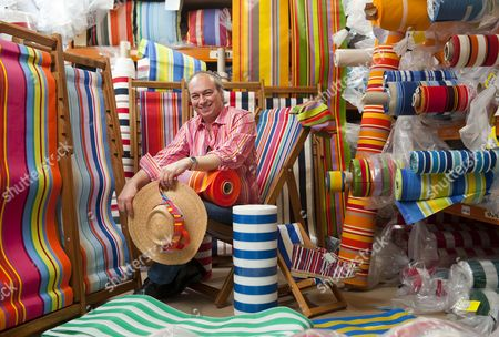 Editorial image of Britain's only deckchair manufacturer creates clothes and accessories range for Fred Perry, Portsmouth, Britain  - Jul 2014