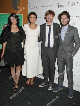 Stock Image of Carla Azar, Maggie Gyllenhaal, Domhnall Gleeson, Francois Civil