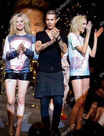 Larissa Marolt, Florian Wess, Topmodel Anastassija Makarenko on catwalk