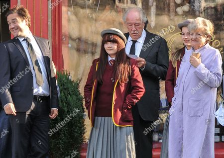 Sir Michael Gambon (Howard Mollison), Rufus Jones (Miles Mollison) and Julia McKenzie (Shirley Mollison)