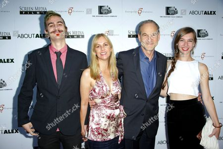 Landry Major and Marshall Herskovitz (C) with guests
