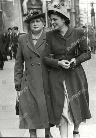 Sophie Miller And Daughter Ruth Erskine Victims Of Fur Coat Theft From Cloakroom During A Wedding Reception.