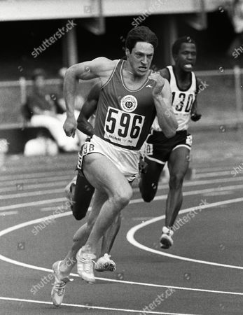 Athletics - 1982 Brisbane Commonwealth Games - Men's 200m  Scotland's Allan Wells runs at the QE II Stadium, Brisbane, Australia. Wells tied for the gold medal in the 200m, and won the gold in the 100m.