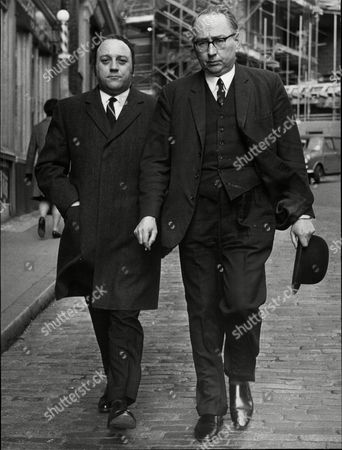 Editorial picture of (l-r) Jeffrey Thomas And James Comyn Q.c. They Are The Defence Team For Will Owen M.p. For Morpeth Northumberland. He Has Been Charged With An Offence Under The Official Secrets Act.