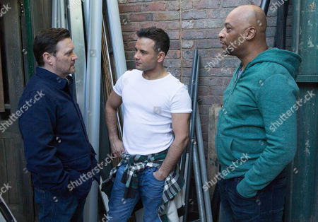 Tony [TERRENCE MAYNARD] overhears Owen Armstrong [IAN PULESTON-DAVIES] telling Jason Grimshaw [RYAN THOMAS] he's selling up.