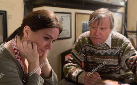 In the café Anna Windass [DEBBIE RUSH] breaks down and confesses to Roy Cropper [DAVID NEILSON] that she's done something terrible.  Roy urges her to talk to Owen about it but will she listen to his advice?