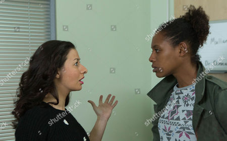Andrea [Hayley Tamaddon] arrives at the hospital and spins Lloyd Mulaney [CRAIG CHARLES] a story about having to rush to the aid of a friend. Lloyd believes her but will Jenna Kamara [KRISSI BOHN] and Eileen be so easily fooled?