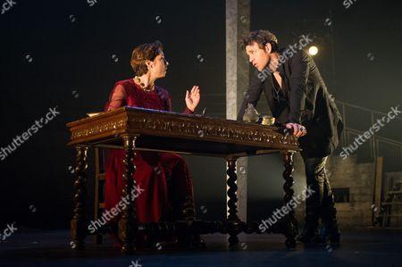Sofie Grabol (Queen Margaret) and Jamie Sives (James III) in JAMES IIIe