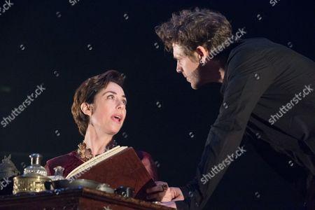 Sofie Grabol (Queen Margaret) and Jamie Sives (James III) in JAMES III