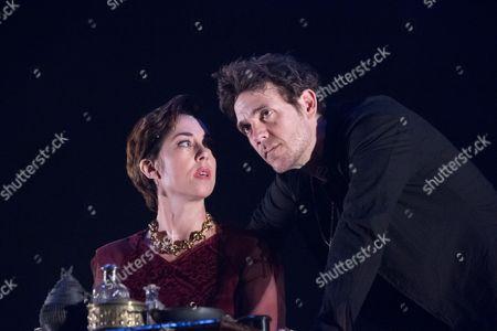 Stock Photo of Sofie Grabol (Queen Margaret) and Jamie Sives (James III) in JAMES III