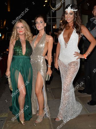 Nicola Stapleton, Stephanie Waring and guest