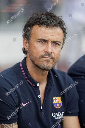 The new Barcelona manager Louis Enrique