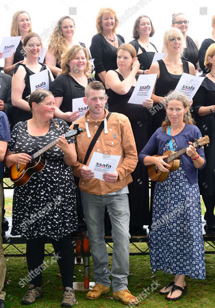 Jonjo Kerr from X Factor performs with Military Wives