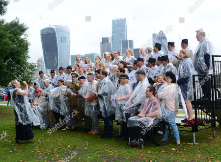 Stock Picture of Military Wives, Blake, Jonjo Kerr, perform and attend