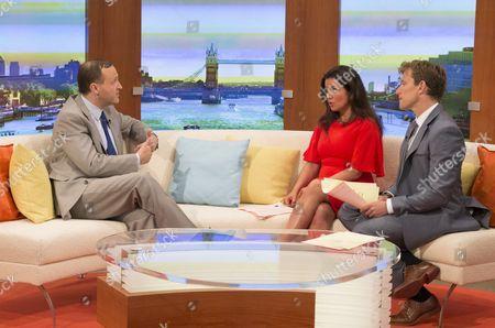 Steve Webb with Susanna Reid and Ben Shephard