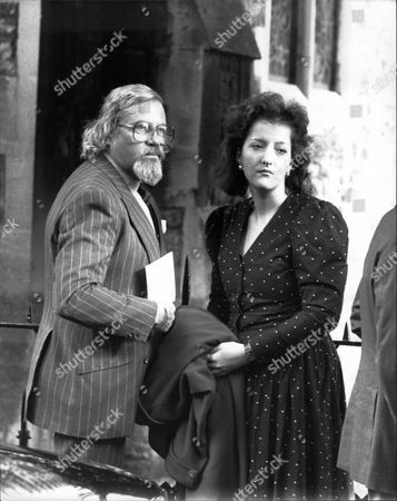 Oliver Reed Actor Attending The Funeral Of Comedian Roy Kinnear.