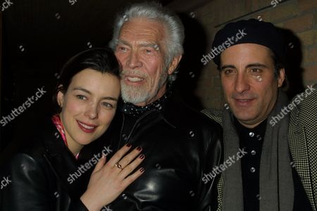 "(From left to right) Olivia Williams, James Coburn and Andy Garcia at a party for the film ""Man From Elysian Fields"" at Phoenix during the 2002 Sundance Film Festival in Park City, Utah on January 14, 2002.