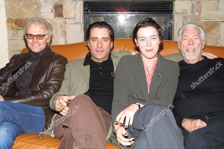 "(From left to right) Michael DesBarres, Andy Garcia, Olivia Williams and James Coburn promoting the film ""Man From Elysian Fields"" at the 2002 Sundance Film Festival in Park City, Utah on January 14, 2002.