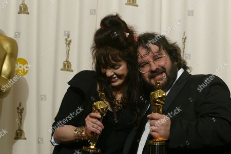 Winner Peter Jackson and Fran Walsh
