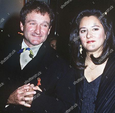 Robin Williams and wife Marsha Garces Williams
