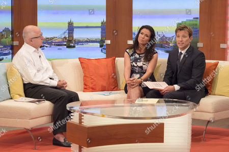 Denis MacShane with Susanna Reid and Ben Shephard