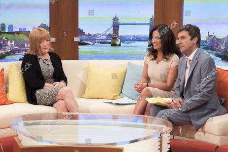 Frank Maloney with Presenters Susanna Reid and John Stapleton