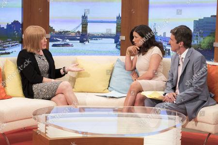 Kellie Maloney with Presenters Susanna Reid and John Stapleton