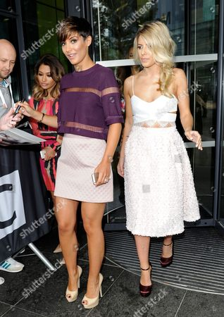 Stock Picture of Vanessa White, Frankie Sandford and Mollie King at BBC Breakfast, Media City