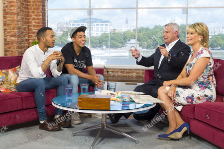 Rizzle Kicks - Harley Alexander-Sule and Jordan Stephens with Eamonn Holmes and Ruth Langsford