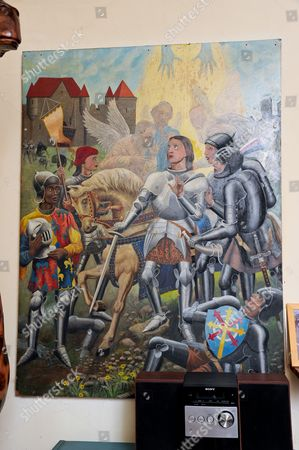 A painting of Joan of Arc